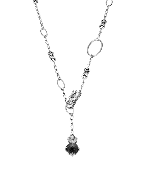 Naga Drop Pendant Sautoir Necklace by John Hardy in The Vampire Diaries - Season 7 Episode 1