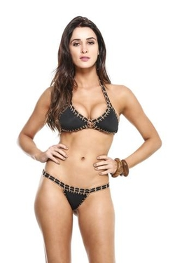 Crochet Stitching Halter Top by Guria Beachwear Crochet Collection in The Bachelorette