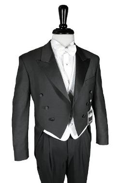 Men's 6 Button Peak Satin Lapel Tail Coat Tuxedo by Cardi in Lee Daniels' The Butler