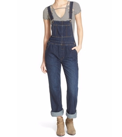 'Davis' Denim Overalls by Free People in New Girl