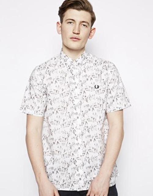 Shirt Print by Fred Perry Margate in Brick Mansions