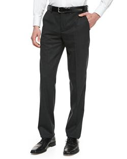 Tuxedo Wool-Blend Trousers by Versace in Addicted