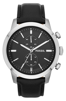 'Townsman' Chronograph Leather Strap Watch by Fossil in Cabin in the Woods