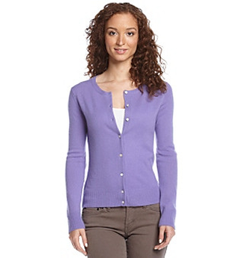 Cashmere Cardigan - Purple by Olivia & Grace in Hall Pass