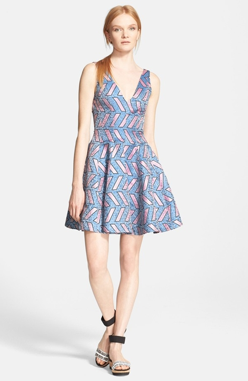 'Pools' Print Fit & Flare Dress by Opening Ceremony in Pretty Little Liars - Season 6 Episode 4