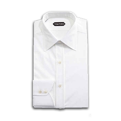 Solid White Dress Shirt by Tom Ford in Suits
