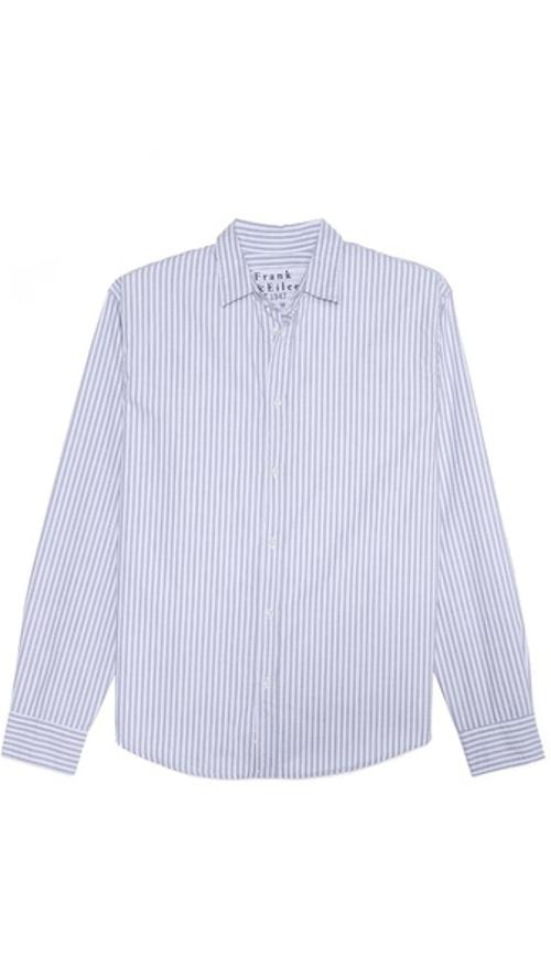 Bengal Stripe Oxford Sport Shirt by Frank & Eileen in Pain & Gain