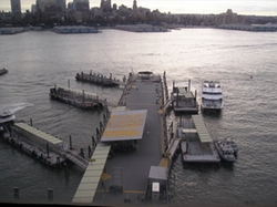 New York City, New York by Wall Street-Pier 11 in Suits