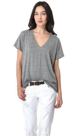 The V Neck Tee by Current/Elliott in Tammy