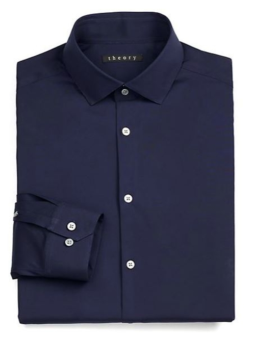 Slim-Fit Dover Luxe Dress Shirt by Theory in Sex and the City 2