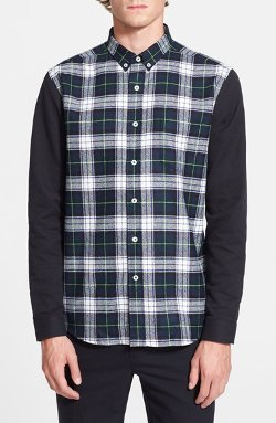 Plaid Wool Shirt with Oxford Sleeves by AMI Alexandre Mattiussi in If I Stay