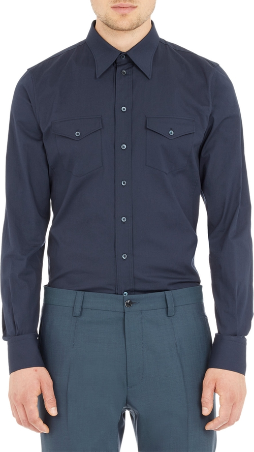 Two Pocket Poplin Shirt by Dolce & Gabbana in The Counselor