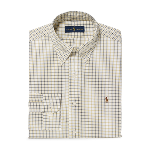 Checked Cotton Poplin Dress Shirt by Ralph Lauren in Love the Coopers