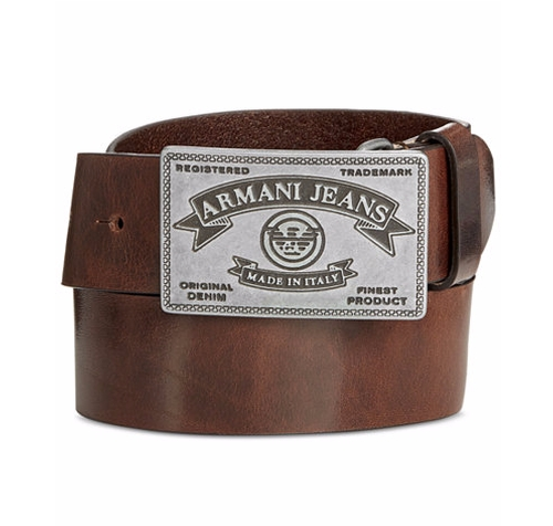 Vintage Plaque Belt by Armani Jeans in Daddy's Home