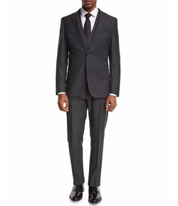 Micro-Nailhead 3-Piece Suit by Boss in Billions