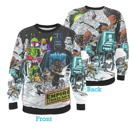 Star Wars Vintage Hoth Fleece Sublimation Print Sweater by Fifth Sun in The Big Bang Theory - Season 9 Episode 11