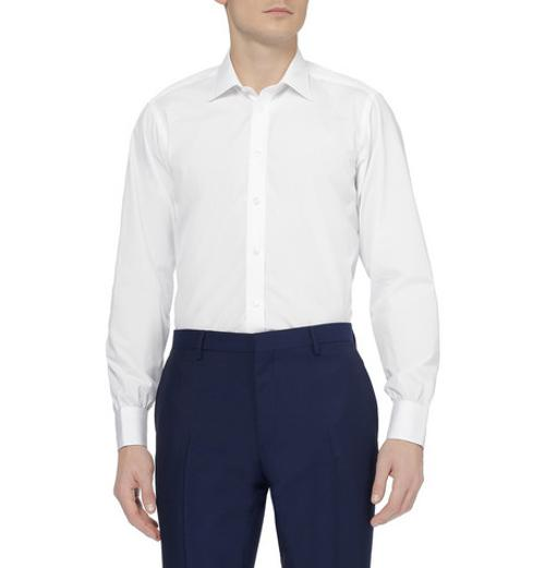 White Cotton Shirt by Turnbull & Asser in Yves Saint Laurent