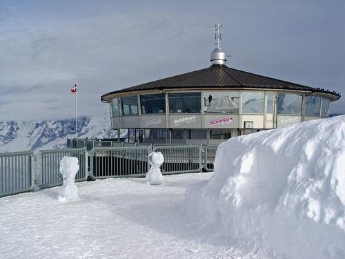 Piz Gloria Restaurant Schilthorn, Switzerland in On Her Majesty's Secret Service