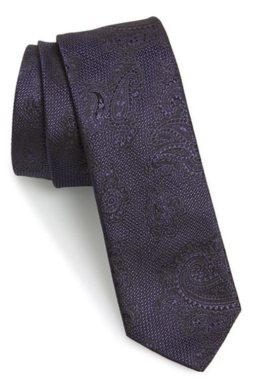 Paisley Woven Silk Tie by Hugo in The Mindy Project - Season 4 Episode 11