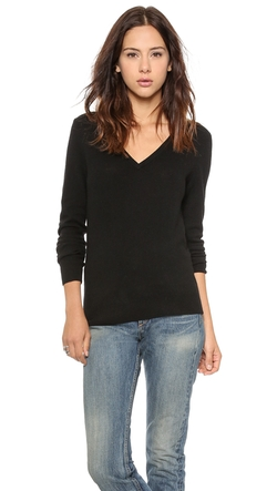 Cecile V Neck Cashmere Sweater by Equipment in Suits