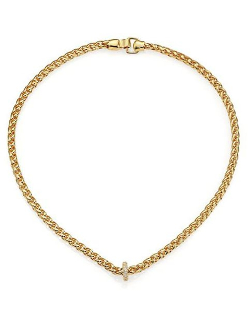 Braque Pavé Topaz Chain Necklace by Elizabeth and James in The Second Best Exotic Marigold Hotel