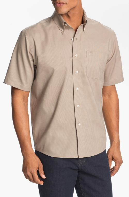 'Nailshead' Regular Fit Wrinkle Free Sport Shirt by Cutter & Buck in Jersey Boys