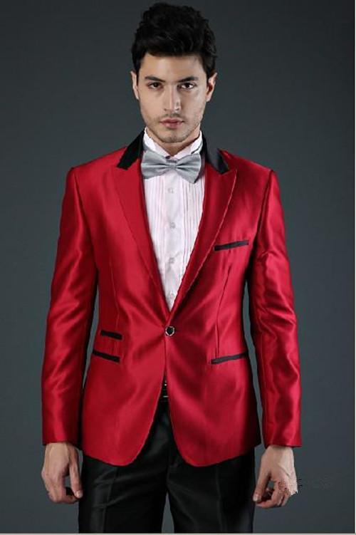 New fashion Menswear Red Peak Lapel tuxedo by Aliexpress in Jersey Boys