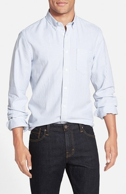Washed Stripe Oxford Sport Shirt by Nordstrom in Modern Family