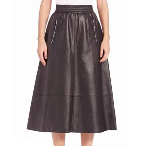 Leather A-Line Skirt by Alexander Wang in Chelsea - Season 1 Episode 1