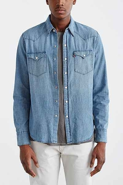 Washed Chambray Western Shirt by Levi's in Rock The Kasbah