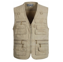 Summer Cotton Leisure Outdoor Fish Vest by Alipolo in The Big Lebowski