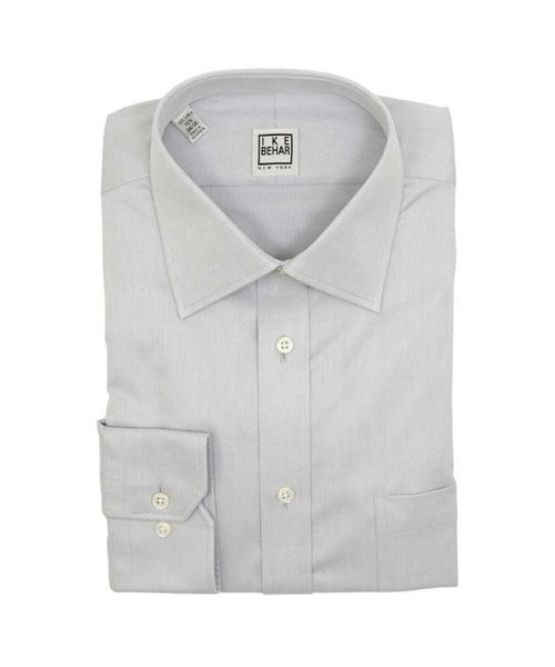 Men's Ice Gray Cotton Dress Shirt by Ike Behar in She's Funny That Way