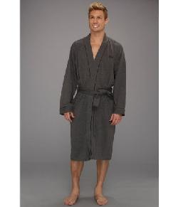 Men's Kimono Robe, Charcoal by HUGO BOSS in Transcendence