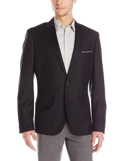 Men's Solid Wool Jacket by Stone Rose in Modern Family