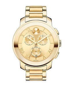Gold-Tone Stainless Steel Bracelet Watch by Movado Bold in Empire