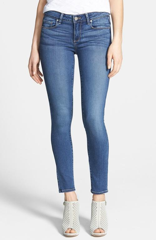 Verdugo Ankle Skinny Jeans by Paige Denim in What If