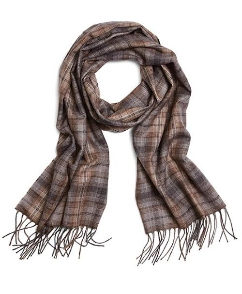Micro Plaid Cashmere Scarf by Brooks Brothers in The Fault In Our Stars