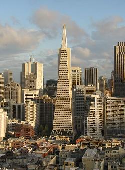 San Francisco, California by Transamerica Pyramid in Godzilla
