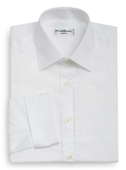 French Cuff Cotton Pique Dress Shirt by Yves Saint Laurent in Yves Saint Laurent