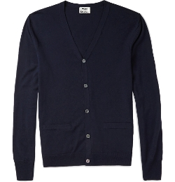 Fine-Knit Merino Wool Cardigan by Acne Studios in Fantastic Four