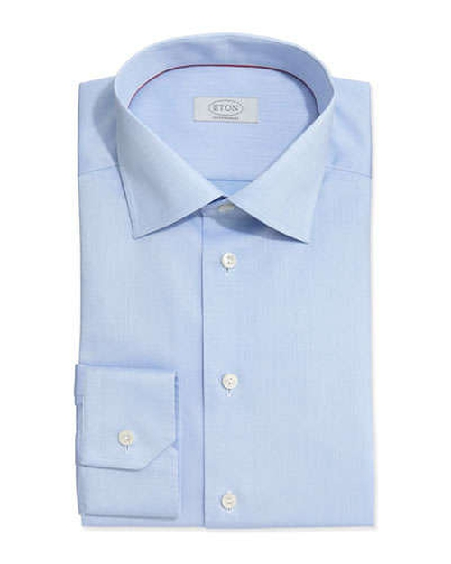 Solid Fine-Twill Dress Shirt by Eton in Ballers