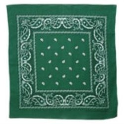 Cotton Paisley All-Purpose Bandana by CTM in The Place Beyond The Pines