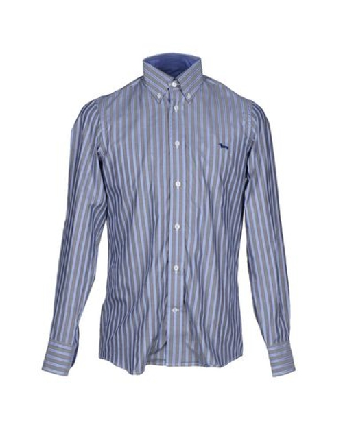 Striped Button Down Shirts by Harmont&Blaine in The D Train