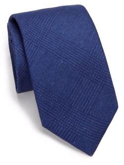 Solid Plaid Silk & Wool Tie by Saks Fifth Avenue Collection in Suits