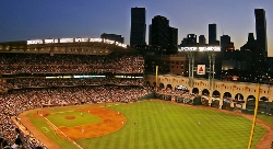 Houston, Texas by Minute Maid Park in Boyhood