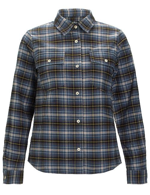 Blue Plaid Cotton Dakota Shirt by A.P.C. in Transcendence