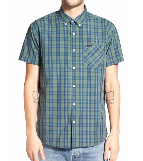 Transfer  Plaid Woven Shirt by RVCA in Guilt - Season 1 Episode 1