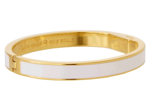 Clean Slate Hinged Idiom Bangle by Kate Spade New York in The Hangover