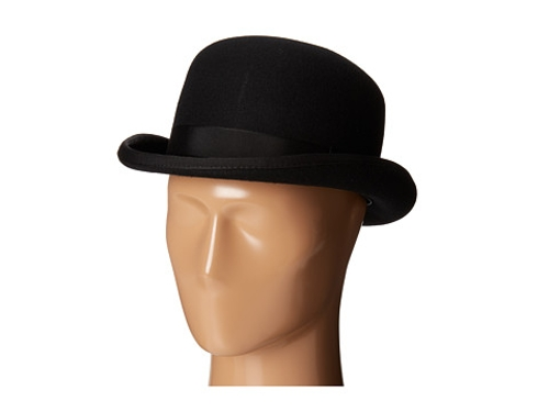 Wool Felt Bowler w/ Grograin Band by Scala in Southpaw