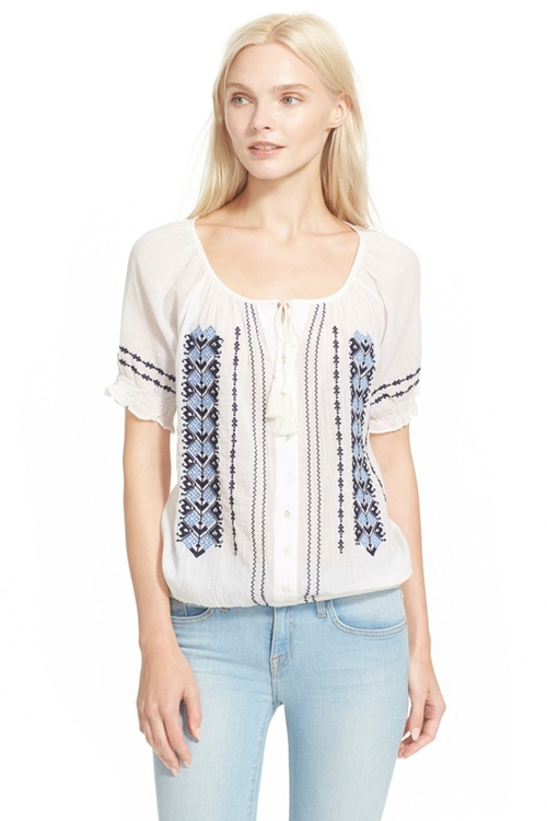 'Dolina E' Embroidered Top by Joie in Dirty Dancing
